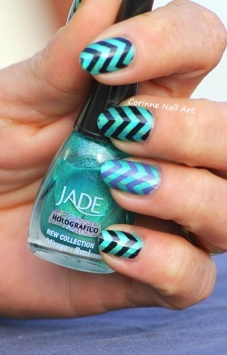 Stamping chevrons sur jade holo