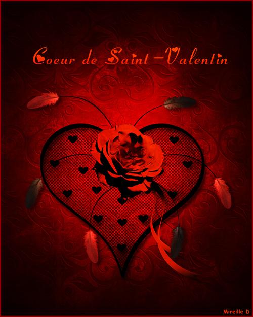 Carte Design de Saint-Valentin