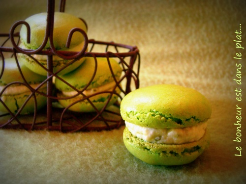 Macarons pistaches/nougat
