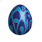 Large Blue Easter Egg