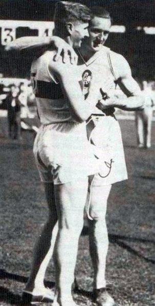 Jules Noël (à G.) en 1938