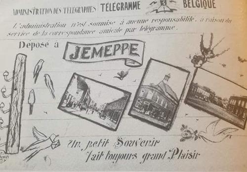 Télégramme Belgique - Jemeppe (photo Bawin Alain sur FaceBook)