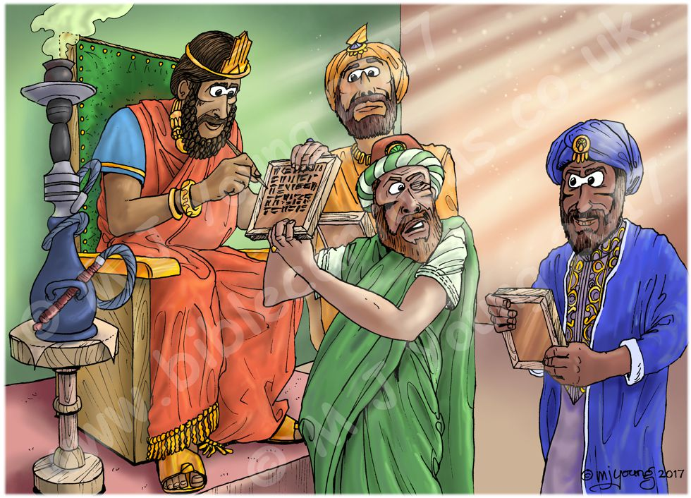 Daniel 06 - The lions' den - Scene 03 - Royal decree 980x706px col