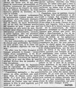 LE PREMIER FESTIVAL INTERNATIONAL DU FILM EN FRANCE (3) 10 août 1939