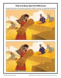 Ruth and Boaz Spot the Difference Bible Activity for Kids