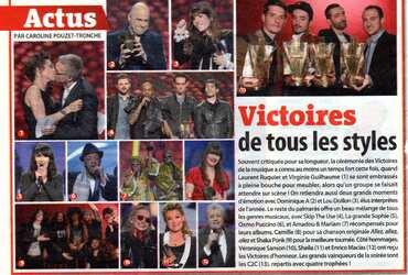 08 février 2013 : Victoire de la Musique