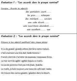 """""""Les mini-évaluations de français de la période 3"""""""