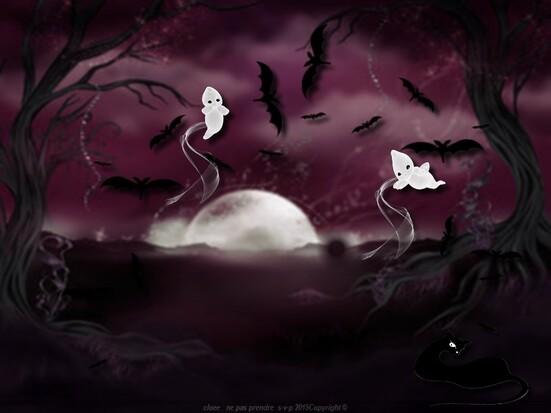 bonsoir  Bientôt  Halloween!!!!!