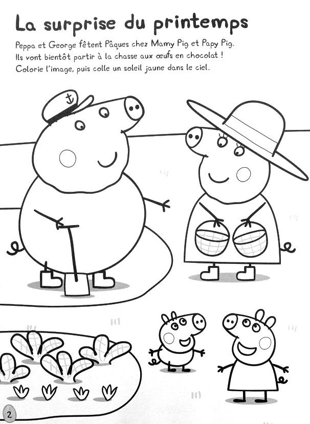 Coloriage Paques Peppa Pig.Peppa Pig Joyeuses Paques Mon Livre D Autocollants Jeunesse