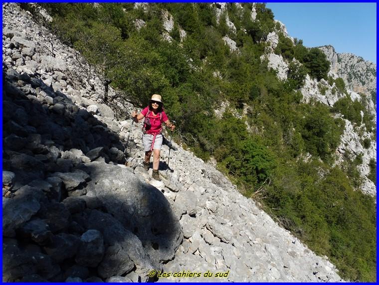 Verdon, le sentier d'Illoire-la Faye