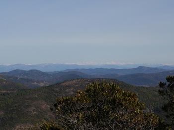 Près du sommet de l'Argentière, zoom sur les Alpes