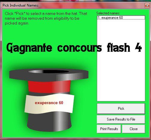 Résulats concours flash 4/ chasse/ naily box boutique