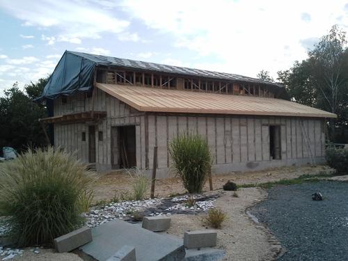 Paille toiture garage : du 31 août 2014 au 28 septembre 2014