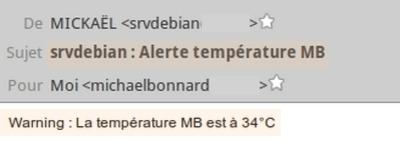 Script de surveillance des températures