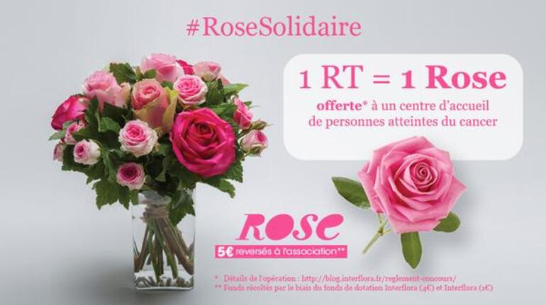 Octobre rose par interflora et participation blogs