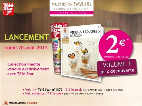"""Collection """" Ma cuisine saveur avec Cyril Lignac """" - Télé Star - 20 Aôut 2012"""