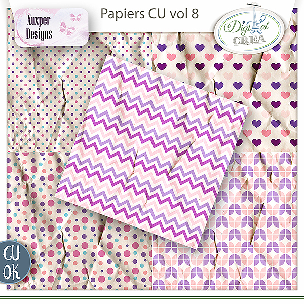Pack papiers Cu vol8 de Xuxper Designs