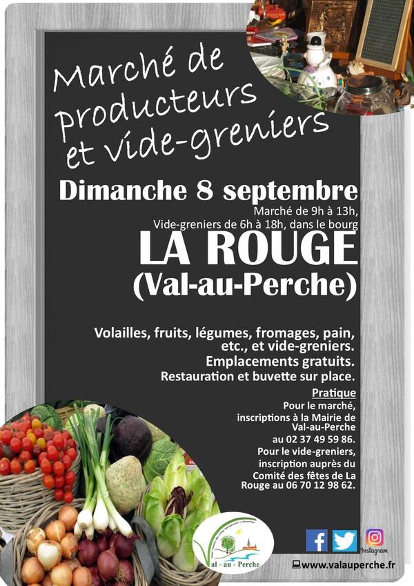 Vide greniers, marché fermier le 8 sept. à La Rouge