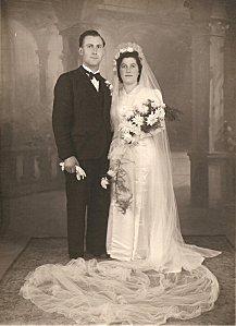 mariage Albet Chiron et Renée Deloumeau, 29-octobre 1946 0