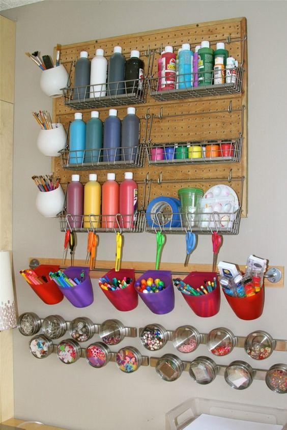Voici 15 astuces pour arranger un petit coin bricolages à vos enfants !: