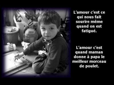 PAROLES D ' ENFANTS : L ' AMOUR