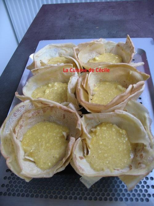 Corolles de crêpes façon Bourdaloue