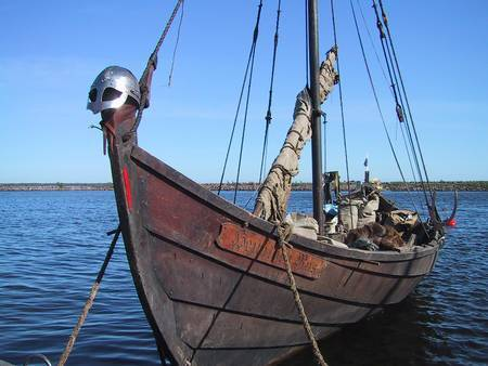 Les Vikings traversaient les océans à l'aide de navires étroits, que l'on appelle communément drakkars. Ils pouvaient ainsi remonter les fleuves, perpétrer des pillages loin dans les terres, et ramener de leurs excursions des esclaves.