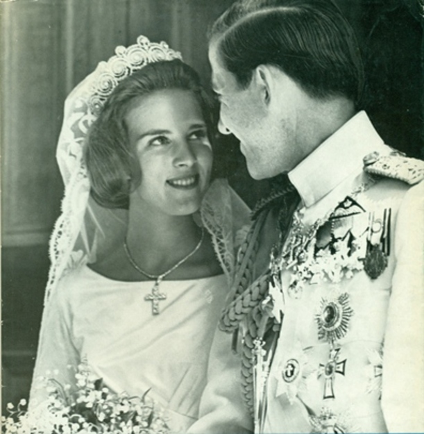 Noces d'orchidée pour Anne-Marie et Constantin de Grèce