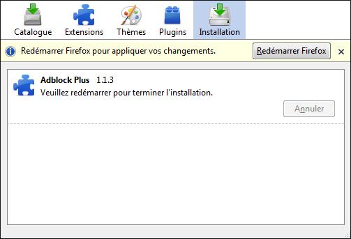 Redémarrez Firefox