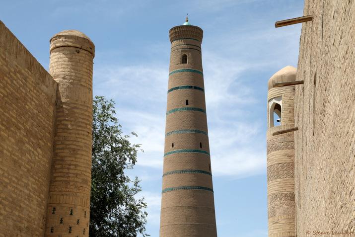 Minaret de la mosquée Djouma ou mosquée du Vendredi, Khiva