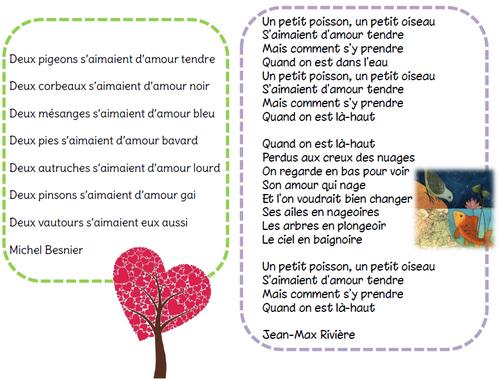 Des poésies pour la saint valentin...