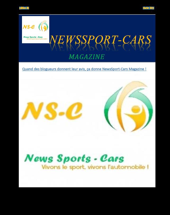 Couverture NewsSport-Cars Magazine février 2015