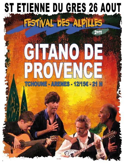 """ST ETIENNE DU GRES """"Gitano de Provence"""" 26 août -Arènes"""
