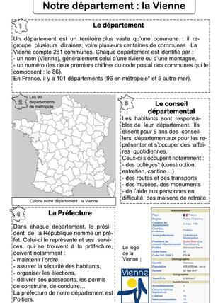 Département et régions : la Vienne et le Poitou-charentes