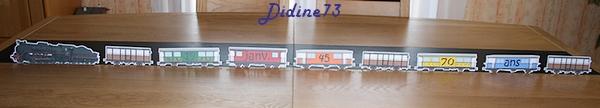 Banderole et carte d'anniversaire - train -1