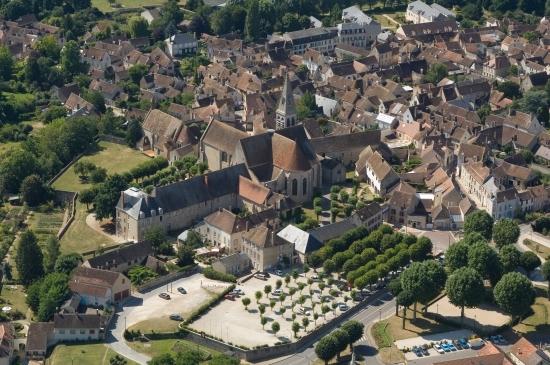 Ville Ferrières-en-Gâtinais vue du ciel