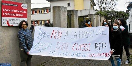 De nombreuses mobilisations ont déjà eu lieu dans le Finistère, comme ici à l'école Ferdinand-Buisson de Brest.