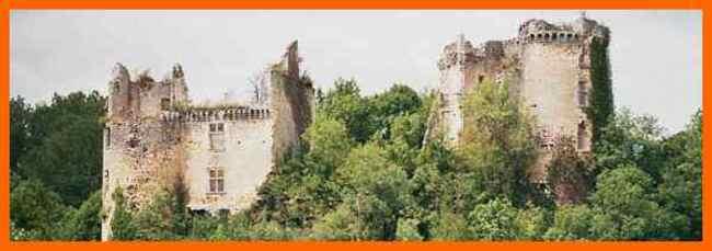 Ruines du château de Bruzac (24).