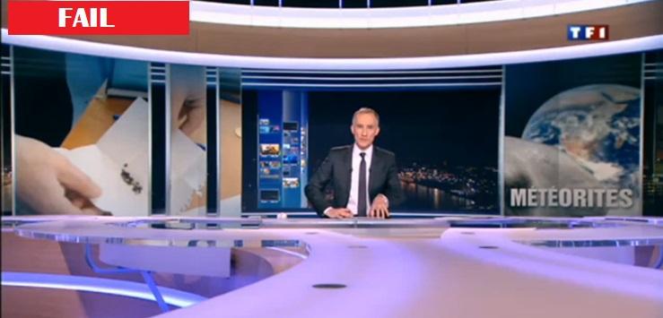 La désinformation de TF1 pour la pluie de météorites en Russie