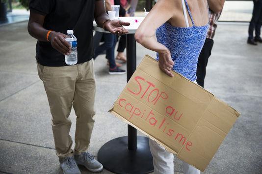 """Lors de Journées d'été de La Rochelle organisées par """"A gauche pour gagner !"""", le samedi 10 septembre 2016."""