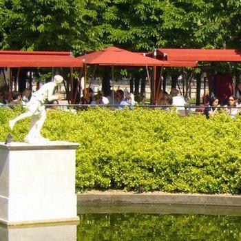 la terrasse dans le jardin des tuileries