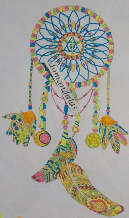DOMANDALAS  coloriage d'un attrape-rêves