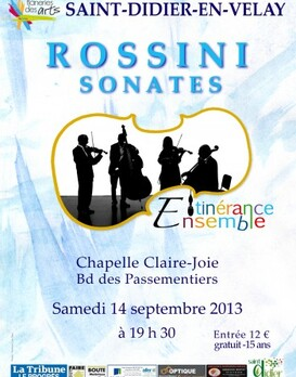 14 septembre : CONCERT - Ensemble Itinérance