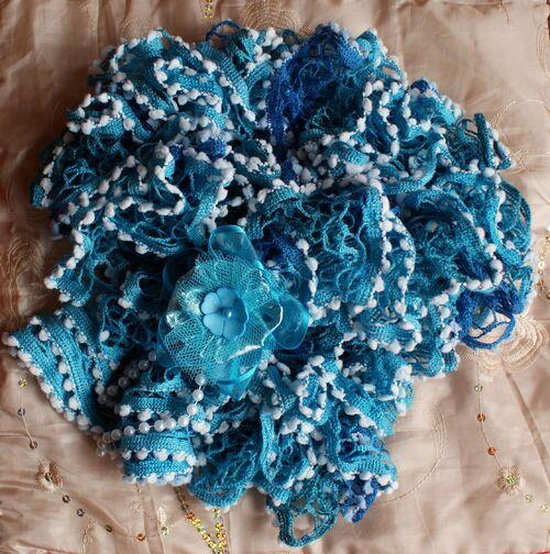 Echarpe Alexandra turquoise