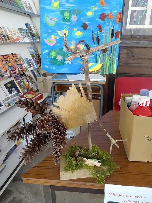 Les Cours Préparatoires de l'école de Laignes ont réalisé de bien poétiques oiseaux !