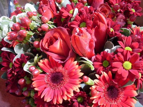Un bouquet en rouge