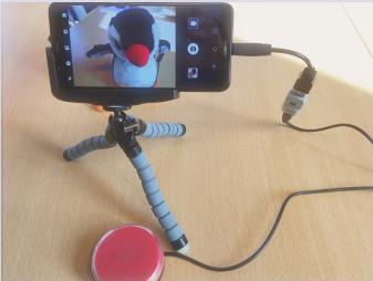 Prendre des photos depuis un smartphone ou une tablette Android avec un contacteur
