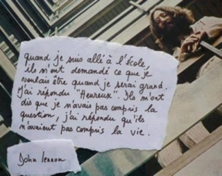 Citation de John Lennon.
