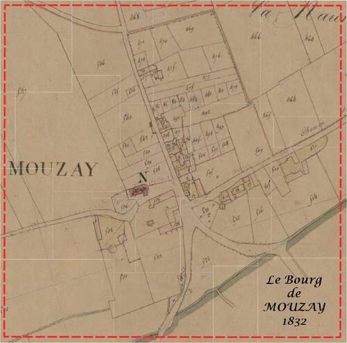 Extrait du Cadastre Napoléonien de Mouzay