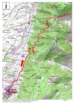 Tour du Capcir - Etape 1 Matemale - Refuge de la Font de la Perdrix